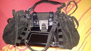 Versace Tasche Lack Leder schwarz