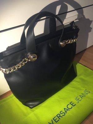 Versace Tasche Shopper schwarz neu mit Etiketten und Rechnung
