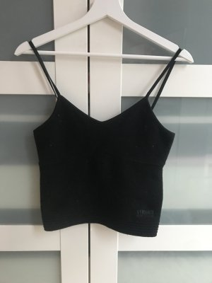 Versace Jeans Haut à fines bretelles noir cachemire