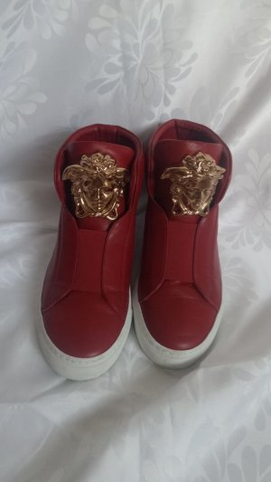 Versace Low boot rouge brique-rouge cuir