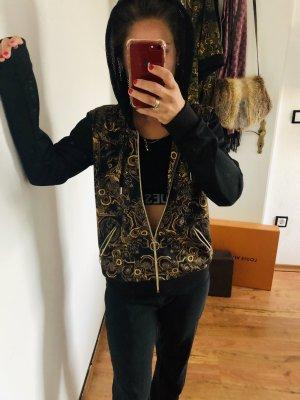 Versace Giacca con cappuccio nero-oro