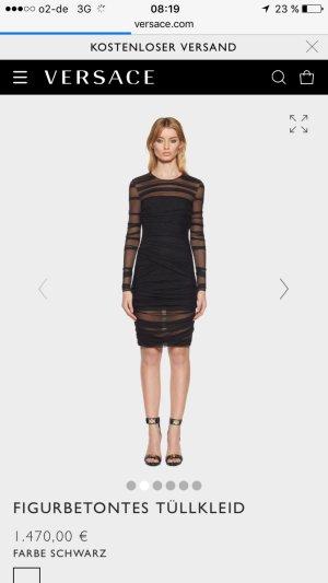 Versace Tüllkleid körperbetont schwarz