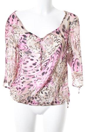 Versace Tunikabluse abstraktes Muster Elegant