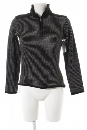 Versace V-Ausschnitt-Pullover schwarz-grau Streifenmuster