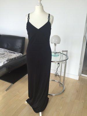 Versace Versus Kleid Abiball schwarz lang Maxikleid dG 34 XS