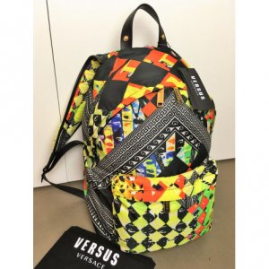 VERSUS Versace School Backpack multicolored polyester
