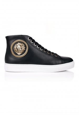 VERSUS Versace High Top Sneaker black-gold-colored leather