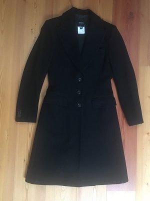 VERSACE Versus Taillierter Mantel, Wolle, schwarz,  Gr 36/38 (IT 42)