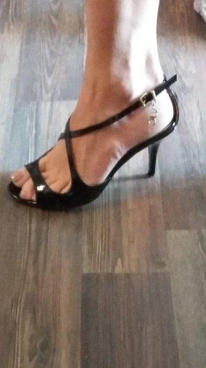Versace, VJC, Pumps, Sandaletten, Schuhe, Gr. 35,5, schwarz, Lack