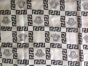 Versace Panno di seta bianco-nero Seta