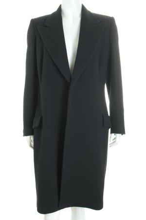 Versace Cappotto in lana nero stile da moda di strada