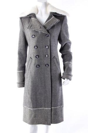 Versace Wollmantel schwarz-weiß