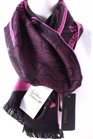 Versace Wollschal pink-schwarz Karomuster klassischer Stil
