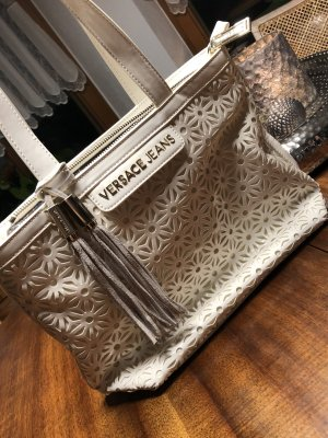 Versace Carry Bag natural white-white leather