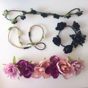 Verschiedene Blumenhaarbänder
