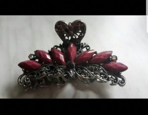 Hair Clip silver-colored-magenta