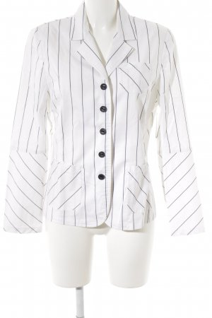 Verse Denim Blazer black-white striped pattern