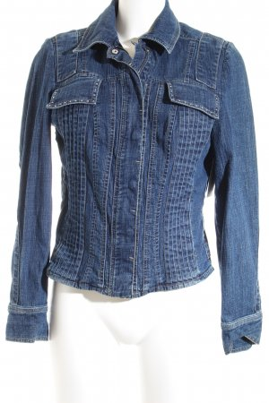 Verse Jeansjacke dunkelblau-blau Jeans-Optik