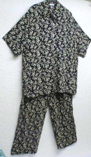 Verse Sommer Anzug Hose und Oberteil Blumenprint