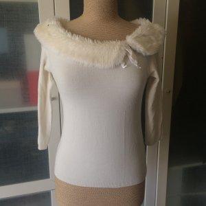 Versace Maglione lavorato a maglia bianco-bianco sporco Viscosa