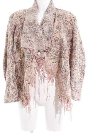 Verse Wolljacke beige-rosa extravaganter Stil