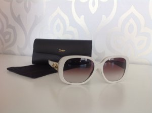 Cartier Gafas blanco puro-crema