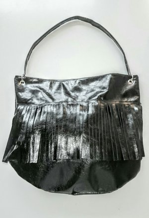 Fringed Bag black leather