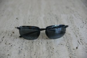 Mavi Ovale zonnebril zwart-grijs Acetaat