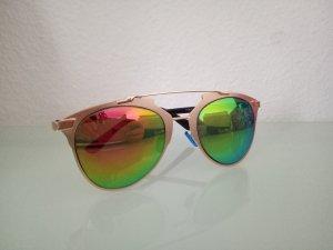 verspiegelte Sonnenbrille orange Gold Pilotenbrille Aviator Blogger Spiegel