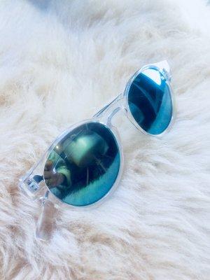 verspiegelte Sonnenbrille transparent