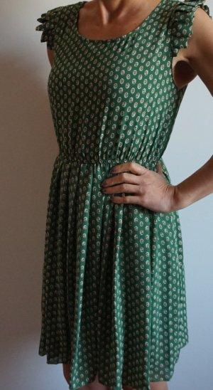 Verspielt-Stylisches Sommerkleid grün-gemustert Shikha London