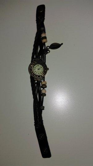 Orologio marrone scuro Pelle