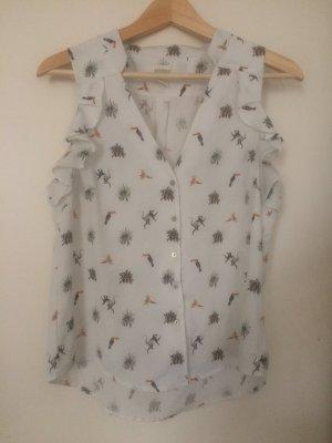 Verspielte Bluse mit Rüschen