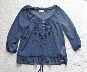 Verspielte Hollister Bluse in blau