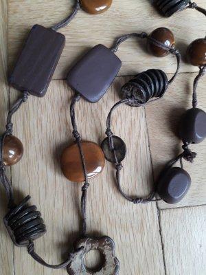 Collier brun-brun foncé