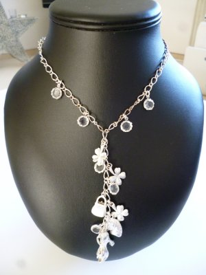 Pilgrim Necklace silver-colored metal