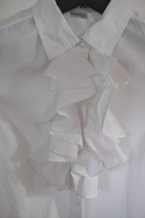 Verspielte Rüschenbluse in weiß