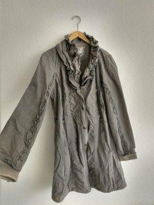 Tredy Parka grigio-marrone-grigio Cotone