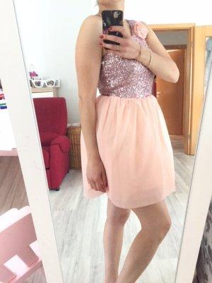 Asos Balloon Dress pink-silver-colored