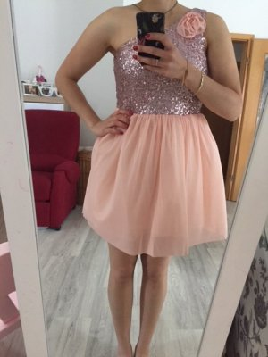 Asos Balloon Dress pink-silver-colored polyamide