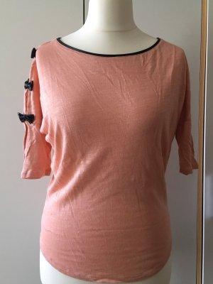 Verspieltes Halbarm-Shirt, rosé/apricot