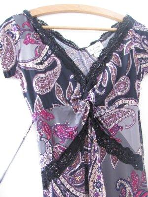 Verspieltes Kleid Gr.36/38 mit schwarzer Spitze von Jus d´Orange Paris