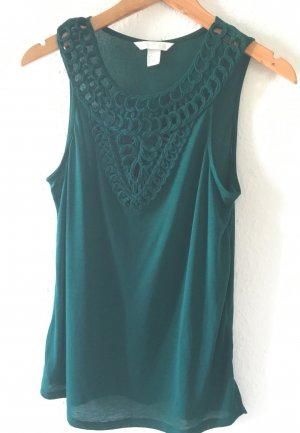 H&M Conscious Collection Crochet Top forest green