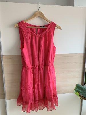 Vestido bustier rojo frambuesa-rosa