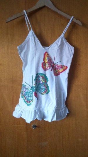 verspieltes Top mit Schmetterlingen