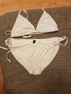 Verstellbarer Triangel-Bikini (S-L) mit blauen Pünktchen