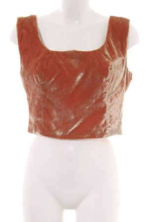 Versus Bustier Top light orange casual look