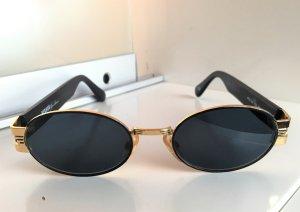 VERSUS Versace Occhiale stile retro nero-oro Tessuto misto