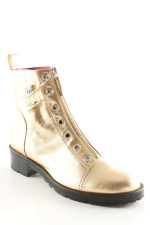 VERSUS Versace Halfhoge laarzen goud wetlook