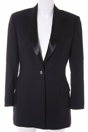 VERSUS Versace Long-Blazer schwarz Business-Look